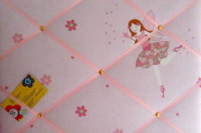 Medium Laura Ashley Millie Fairy Hand Crafted Fabric Notice / Pin / Memo Bo