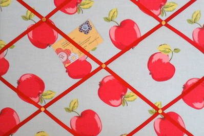 Medium Clarke & Clarke Felix Apple / Apples Hand Crafted Fabric Notice / Me