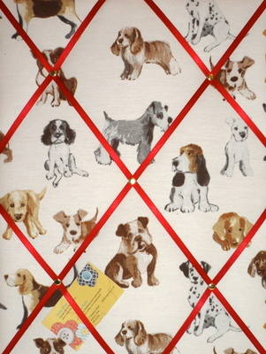 Medium Prestigious Hot Dogs Hand Crafted Fabric Memory / Notice / Pin / Mem