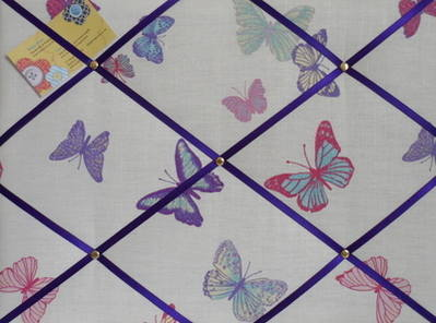 Medium Laura Ashley Summer Meadow Butterfly Hand Crafted Fabric Notice / Pi
