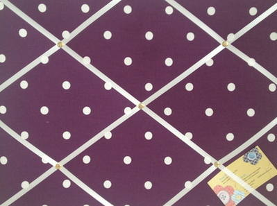 Medium Clarke & Clarke Berry Dotty Hand Crafted Fabric Notice / Memory / Pi
