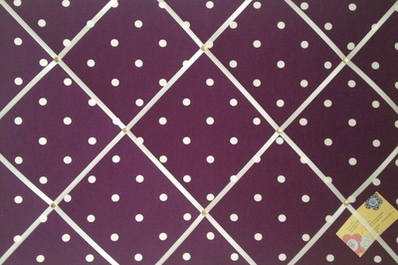 Large Clarke & Clarke Berry Dotty Hand Crafted Fabric Notice / Memory / Pin