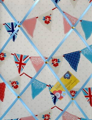 Medium Fryetts Blue Union Jack Bunting / Flag Hand Crafted Fabric Notice /