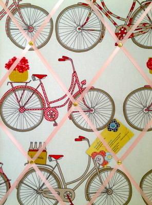 Medium Ashley Wilde Poppy Totnes Cycling Bike Hand Crafted Fabric Notice /