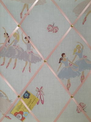 Medium Laura Ashley Tabatha Ballerina Hand Crafted Fabric Notice / Pin / Me