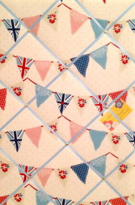 Large Fryetts Vertical Blue Union Jack Bunting / Flag Hand Crafted Fabric M