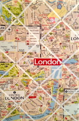 Large 60x40cm Vertical London City Map Hand Crafted Fabric Notice / Pin / M