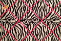 Extra Large 60x90cm Zebra Print Pink Ribbon Fabric Pin / Memo / Notice / Memory Board