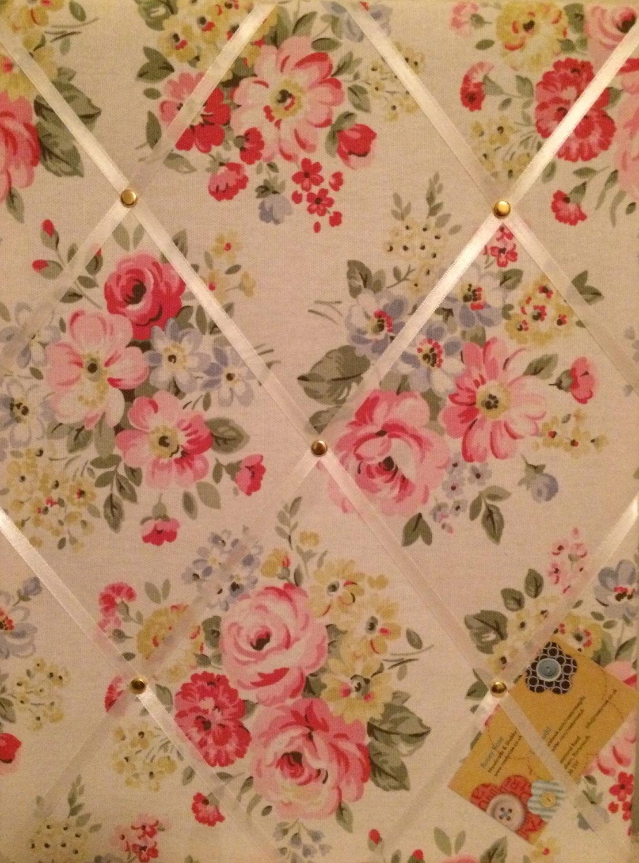 Medium 40x30cm Cath Kidston White Spring Bouquet Hand Crafted Fabric Notice