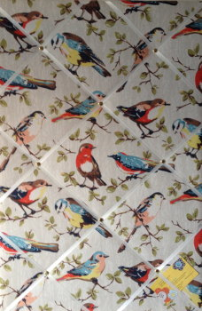 Large 60x40cm Cath Kidston Vertical Garden Bird Hand Crafted Fabric Notice / Pin / Memo / Memory Board