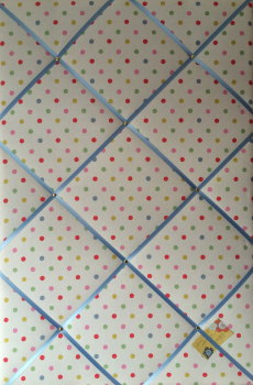 Extra Large 90x60cm Cath Kidston Dotty Fabric Notice / Pin / Memo / Memory Board