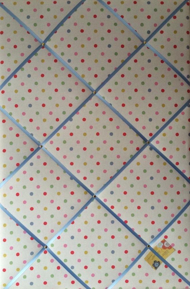 Extra Large 90x60cm Cath Kidston Dotty Fabric Notice / Pin / Memo / Memory