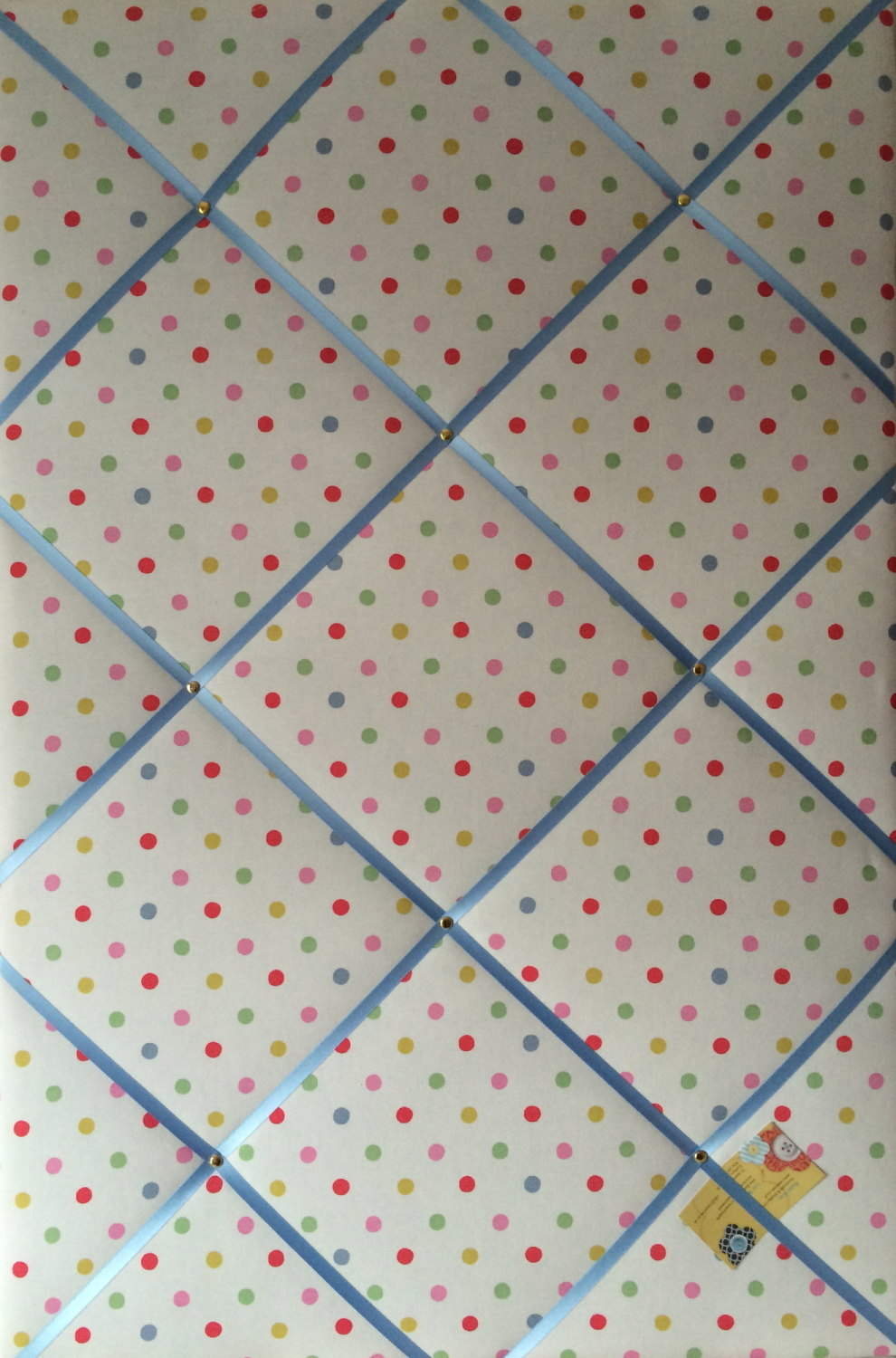 Extra Large 90x60cm Cath Kidston Dotty Fabric Notice / Pin / Memo / Memory