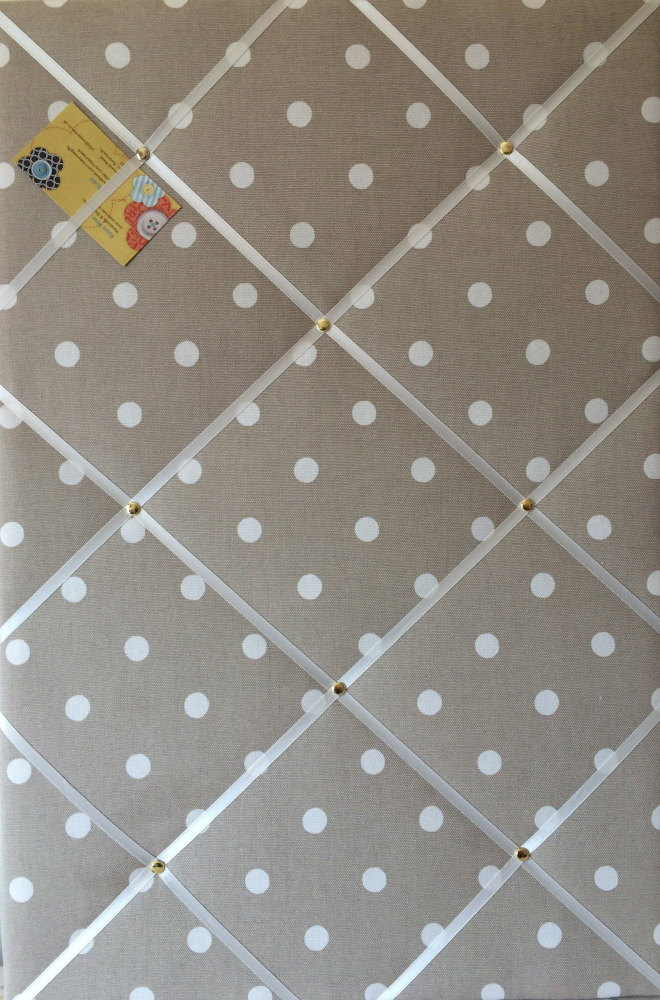 Large 60x40cm Cath Kidston Stone Spot Hand Crafted Fabric Notice / Pin / Me