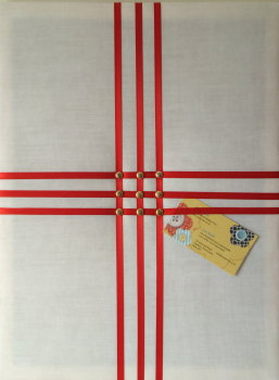 Medium 40x30cm White & Red England St George's Flag World Cup Football Handcrafted Fabric Notice / Memory / Pin / Memo Board