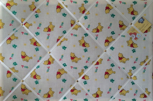 Large 60x40cm Winnie the Pooh Crafted Fabric Notice / Memory / Pin / Memo B