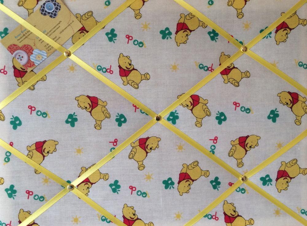 Medium 40x30cm Winnie the Pooh Honey Crafted Fabric Notice / Pin / Memo / M