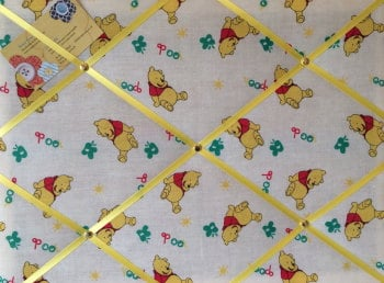 Medium 40x30cm Winnie the Pooh Honey Crafted Fabric Notice / Pin / Memo / Memory Board