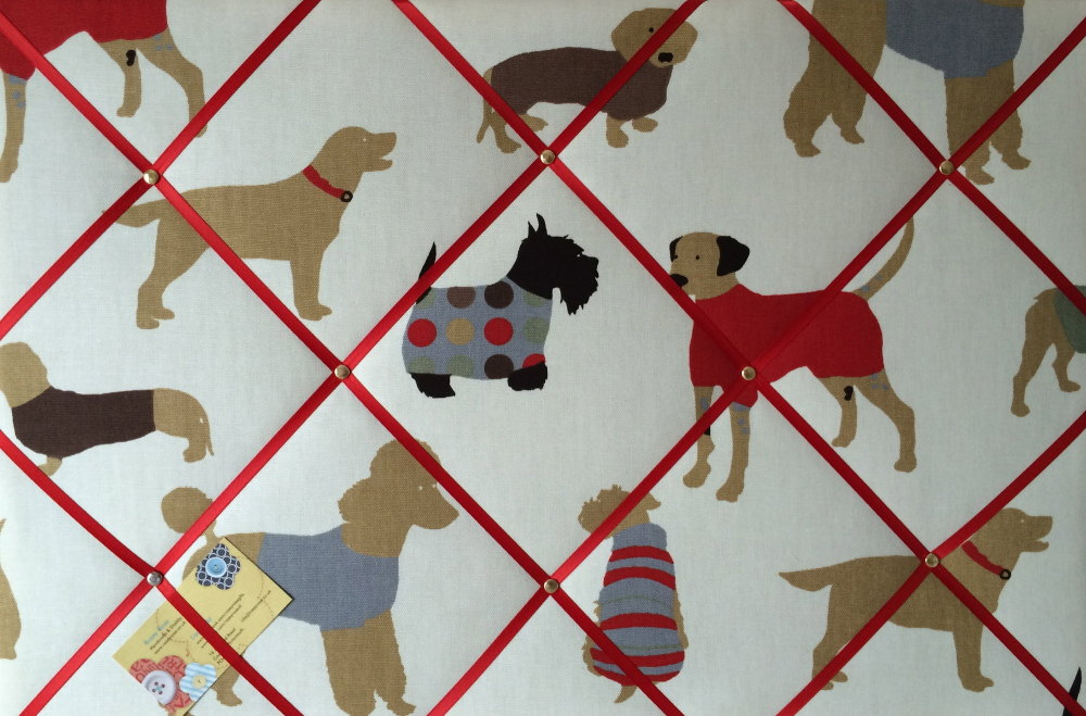 Large 60x40cm Prestigious Dog Man's Best Friend Hand Crafted Fabric Notice