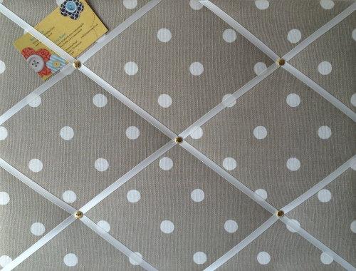 Medium 40x30cm Cath Kidston Stone Spot Hand Crafted Fabric Notice / Pin / M