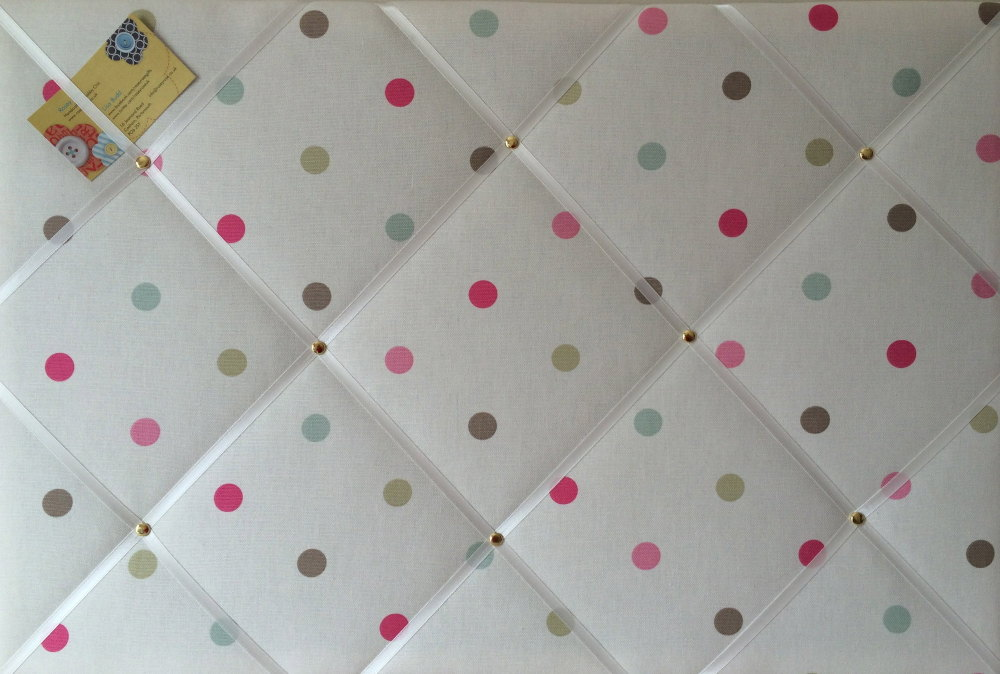 Large 60x40cm Clarke & Clarke Mineral Multi Colour Spot Hand Crafted Fabric
