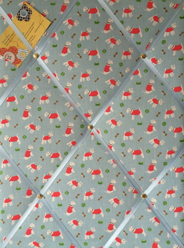 Medium 40x30cm Cath Kidston Mini Stanley Hand Crafted Fabric Notice / Pin /