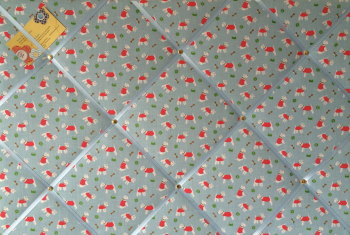 Large 60x40cm Cath Kidston Blue Mini Stanley Hand Crafted Fabric Notice / Pin / Memo / Memory Board