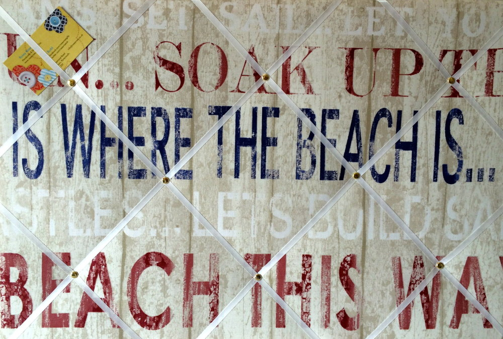 Large 60x40cm Fryetts Broadwalk Heritage Seaside Beach Hand Crafted Fabric