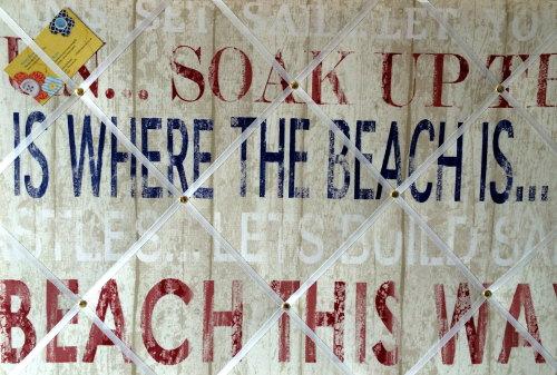 Large 60x40cm Fryetts Broadwalk Heritage Seaside Beach Hand Crafted Fabric