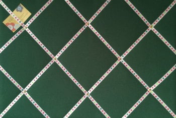 Large 60x40cm Green Christmas Xmas with Red Bauble Ribbon for Cards / Decorations Hand Crafted Fabric Notice / Pin / Memo / Memory Board