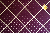 Extra Large 90x60cm Clarke & Clarke Berry Dotty Spotty Fabric Pin / Memo / Notice / Memory Board