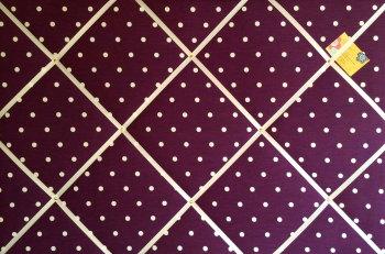 Extra Large 90x60cm Clarke & Clarke Berry Dotty Spotty Fabric Pin / Memo / Notice / Memory Board