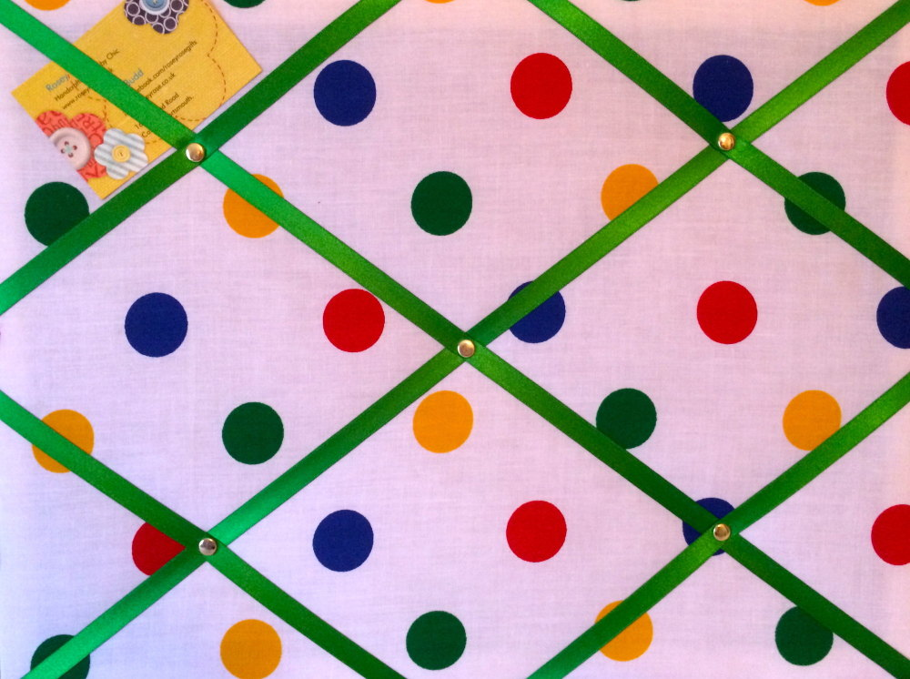 Medium 40x30cm Multi Colour Spot White Red Green Blue Yellow Hand Crafted F