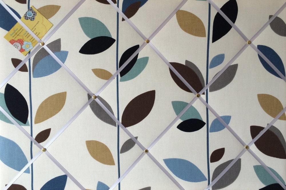 Large 60x40cm Prestigious Evergreen Duck Egg Hand Crafted Fabric Notice / M
