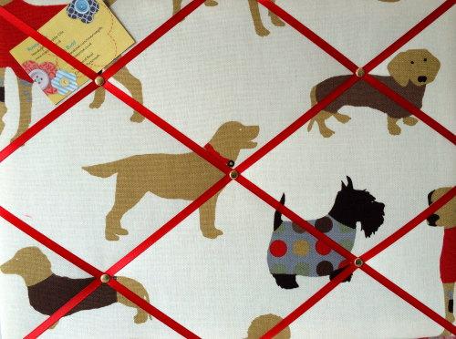 Medium 40x30cm Prestigious Man's Best Friend Dog Hand Crafted Fabric Notice