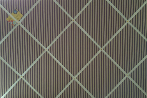 Extra Large 90x60cm Vintage Lilac Sunday Stripe Hand Crafted Fabric Notice
