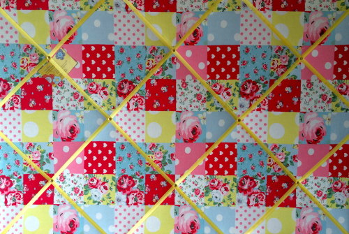 Extra Large 90x60cm Cath Kidston Patchwork Fabric Notice / Pin / Memo / Mem