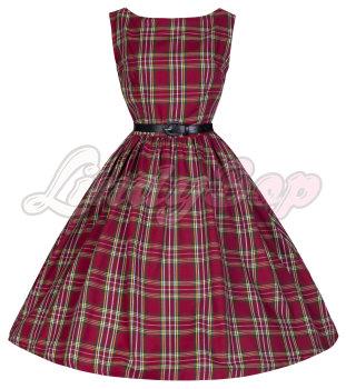 LINDY BOP 'AUDREY' TASTEFULLY TARTAN PERFECTLY PLAID 50'S SWING DRESS