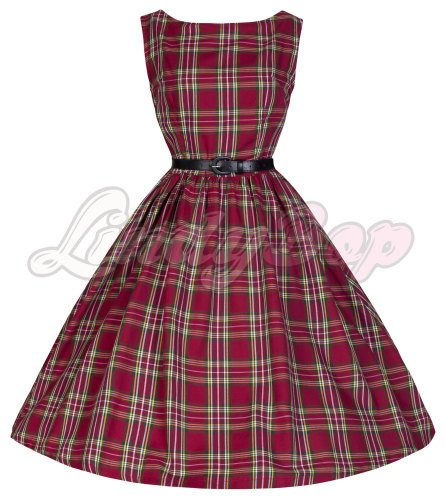 LINDY BOP 'AUDREY' TASTEFULLY TARTAN PERFECTLY PLAID 50'S SWING DRESS