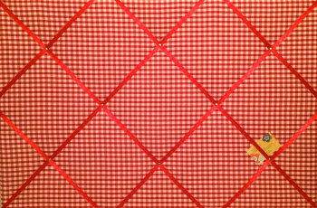 Extra Large 90x60cm Red & White Gingham Check Fabric Pin / Memo / Notice / Memory Board