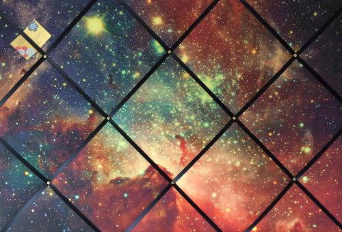 Extra Large 60x90cm Space Stars Candy Carina Nebula Fabric Pin / Memo / Not