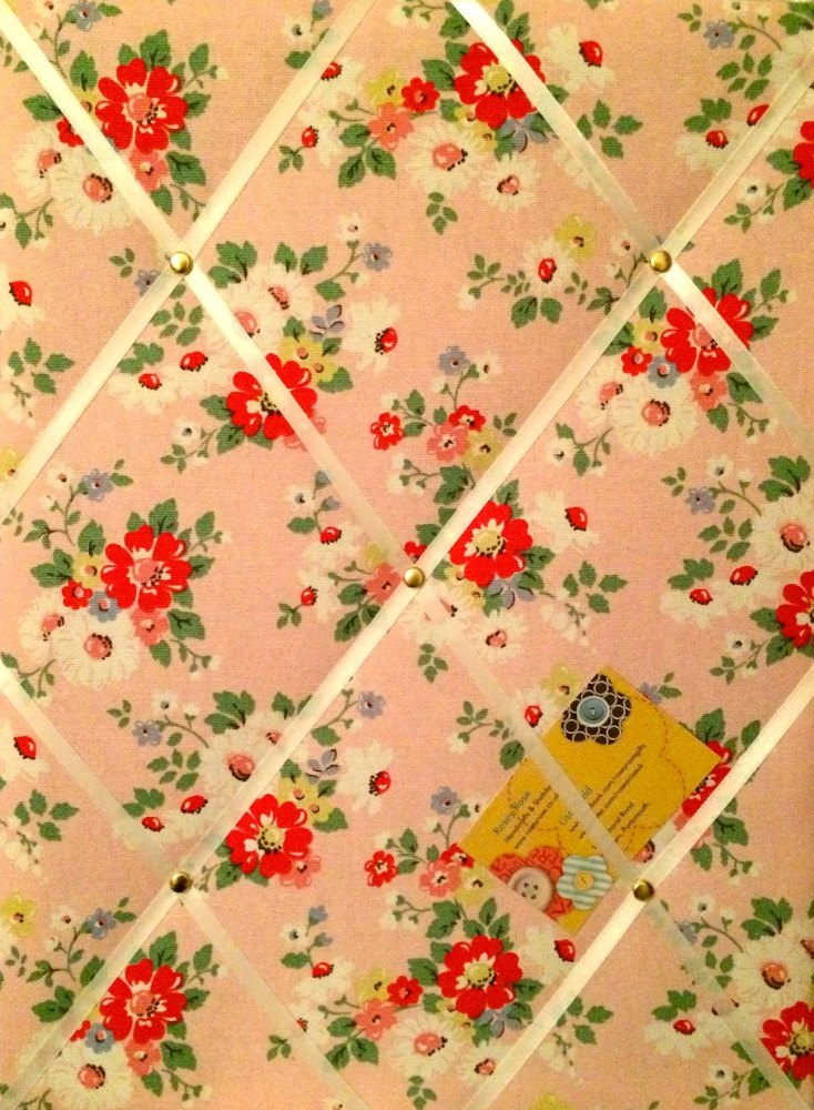 Medium 40x30cm Cath Kidston Pink Daisy / Daisies Hand Crafted Fabric Notice