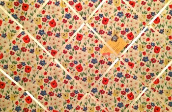 Large 60x40cm Cath Kidston Paradise Fields Hand Crafted Fabric Notice / Pin / Memo / Memory Board