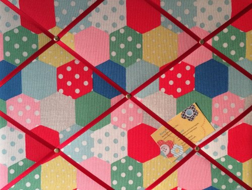 Medium 40x30cm Cath Kidston Patchwork Spot Hand Crafted Fabric Notice / Pin