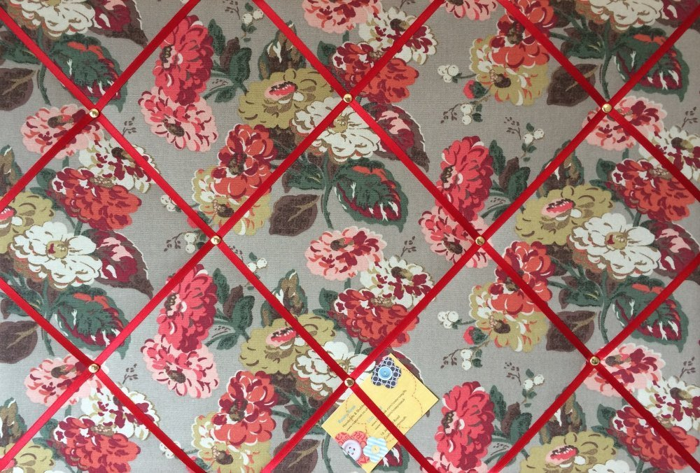 Large 60x40cm Cath Kidston Autumn Bloom Flower Hand Crafted Fabric Notice /