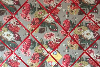 Large 60x40cm Cath Kidston Autumn Bloom Flower Hand Crafted Fabric Notice / Pin / Memo / Memory Board