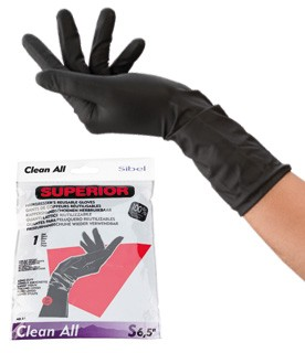 Sibel Superior Re-usable Black Gloves