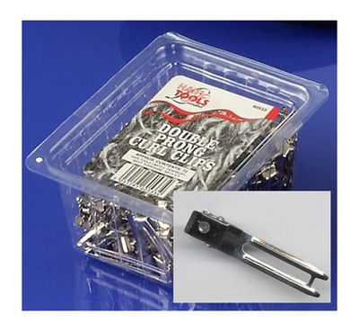 Hairtools Double Prong Curl Clips x72