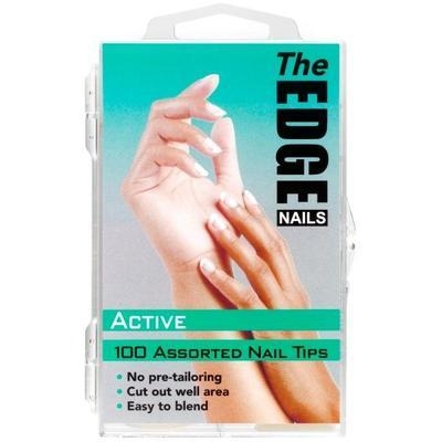 Nail Tips - Active - 100 Assorted (Boxed)