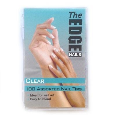 Nail Tips - Clear - 100 Assorted (Boxed)